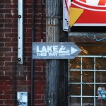 Lake This Way sign, Cabbagetown, Toronto