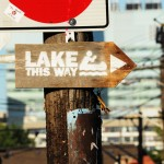 Lake This Way sign, Kensington Market, Toronto