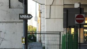 Lake This Way sign, Gardiner Expressway, Toronto